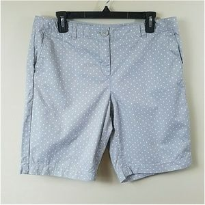 Ann Taylor LOFT Petite Polka Dot Bermuda Shorts